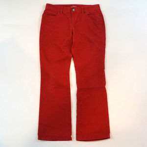 LOFT Curvy Boot Size 28/6 Red Corduroy Pants